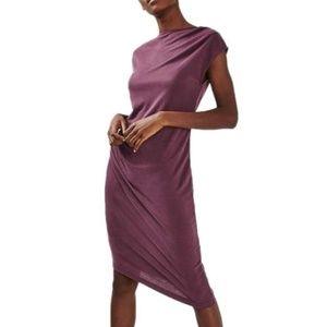 Topshop Asymmetrical Drape Dress